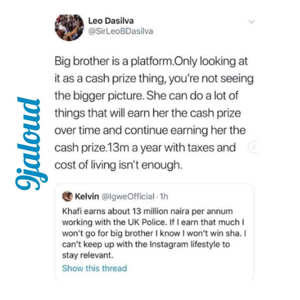 BBNaija 2019: Leo Dasilva reacts to MET police alleged plans to sack Khafi Inshot63