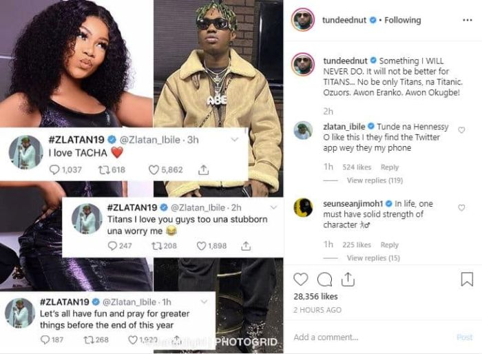 """""""It Will Never Be Better For Titans"""" – Tunde Ednut Curses Tacha's Fans It-wil10"""