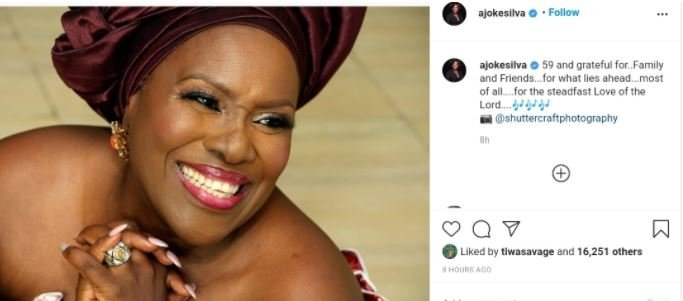 Veteran Actress, Joke Silva Celebrates 59th Birthday With Lovely Photo Joke-s10