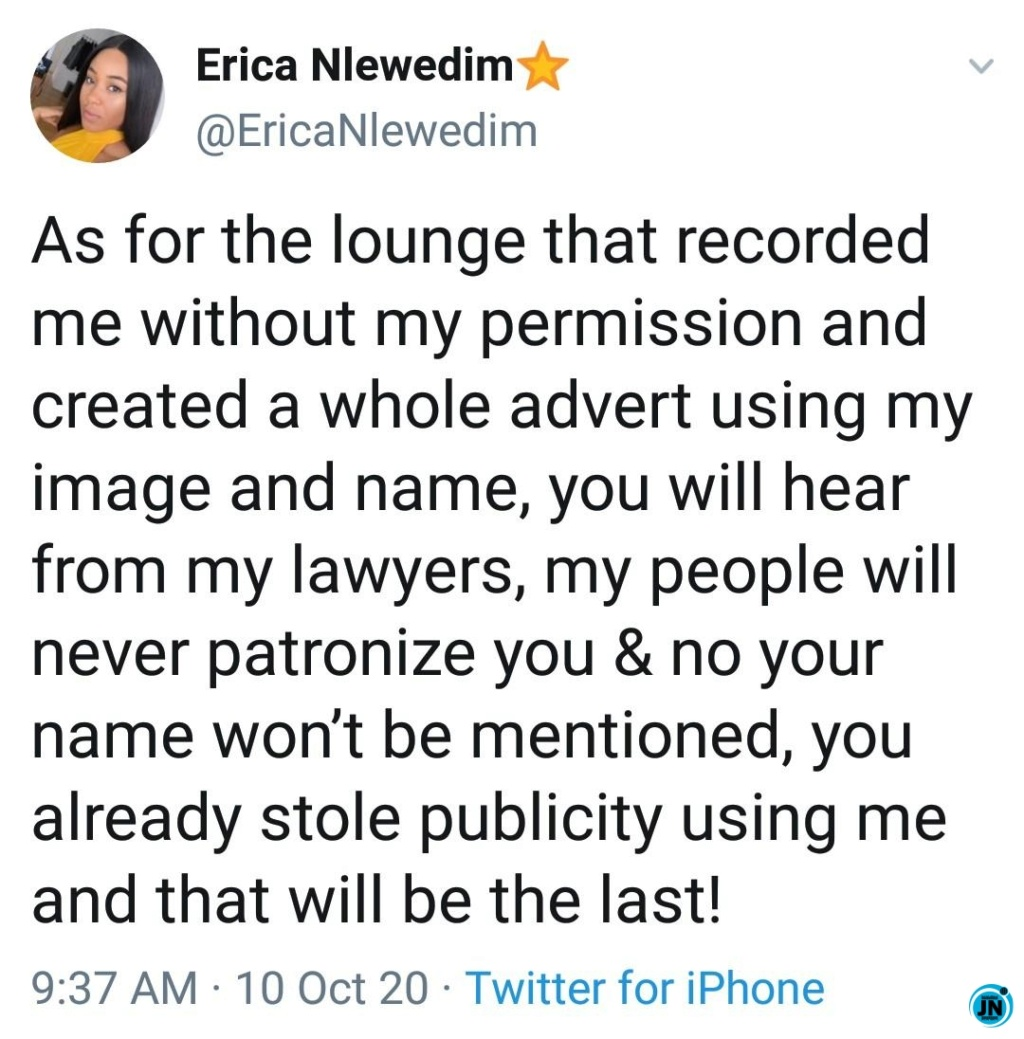 """""""If You Are An Elite, Own It With Your Chest, You All Will Regret Pissing Me Off, I Promise You"""" – Erica Blows Hot Justna51"""