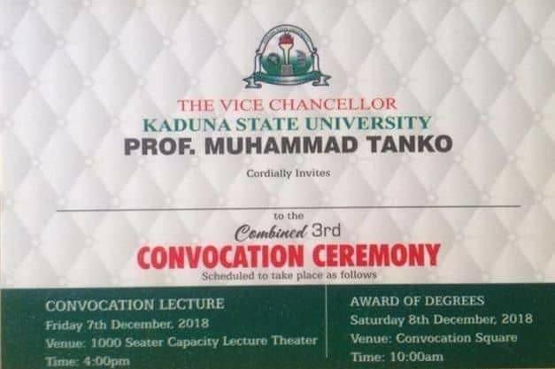 Kaduna State University (KASU) 3rd Combined Convocation Ceremony Programme of Events Kasu-c10