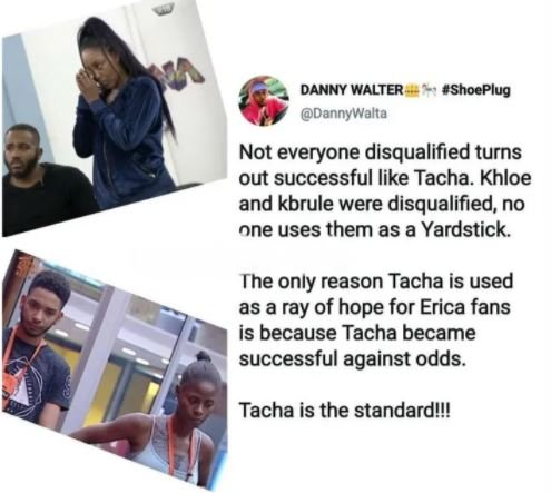 "Twitter - BBNaija: ""Not Every Disqualified Housemate Turns Out Successful Like Tacha"" – Man Says Kdv-v10"