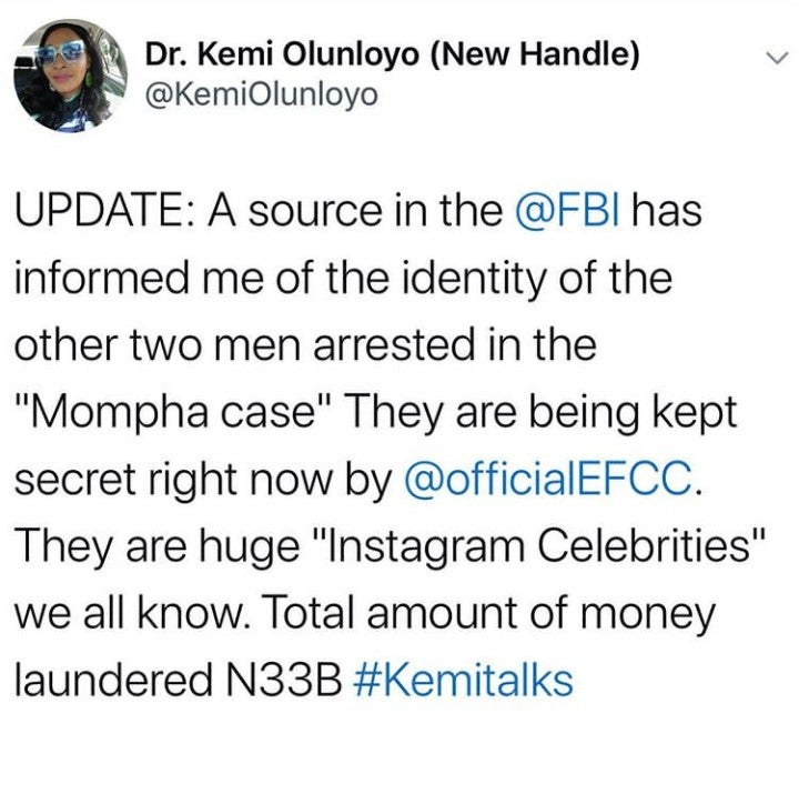 Two Instagram Celebrities Arrested In Connection With Mompha – Kemi Olunloyo Kemi13