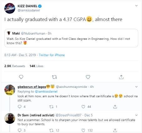 Kizz Daniel Reveals The CGPA He Graduated With From FUNAAB Kizz-d32