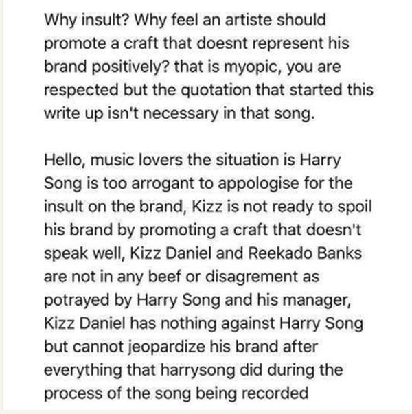 Kizz Daniel's Manager Explains Why Kizz Daniel Was Left Out Of Selence Video (See Why) Kizz210