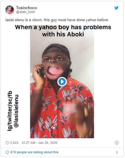 """Lasisi Is A Yahoo Boy"" – Fans Accuse Comedian Over Accuracy Of His Skit (Watch Skit) Las-211"
