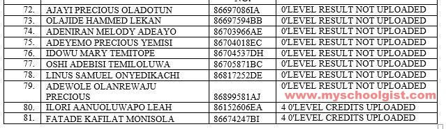 LAUTECH Releases List of Candidates Who Are Yet To Upload Their O'level Result(s) on JAMB CAPS Lautec20