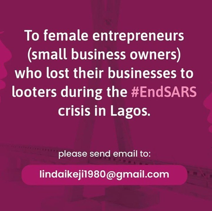 Linda Ikeji To Assist Female Entrepreneurs Whose Stores Were Looted Lind10