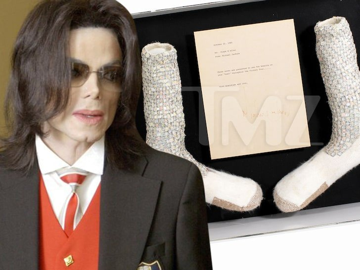 Micheal Jackson's 1st Dancing Socks To Be Sold For N760,000,000 Mi10
