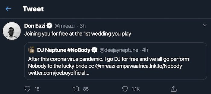 DJ Neptune & Mr Eazi Pledges To Give A Free Performance Once Coronavirus Ends Mr-eaz25