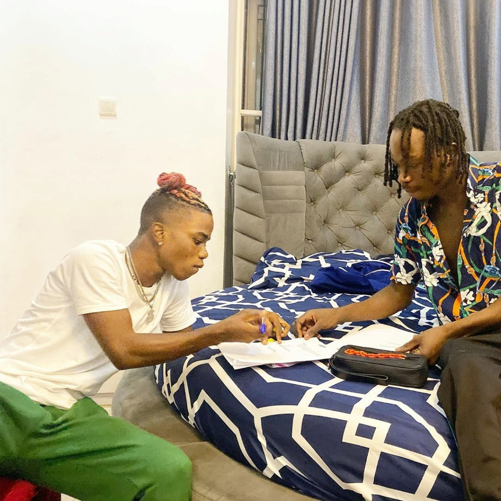 Jubilation As Popular Singer, Naira Marley Officially Signs Lyta To His Record Label Nairam11