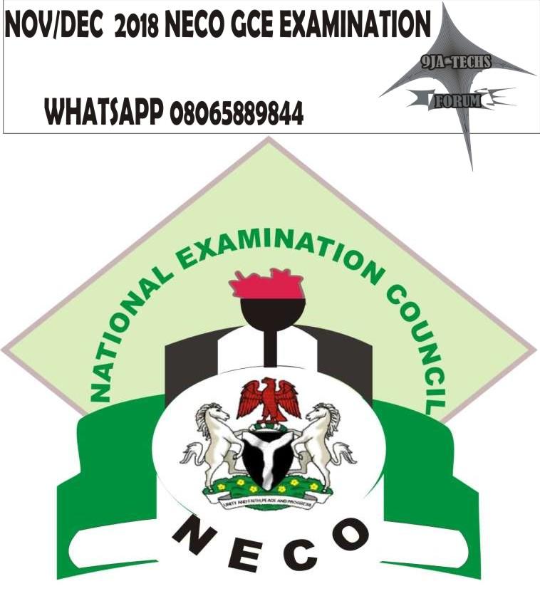 2018 Neco Gce Exam WhatsApp Runs Package  Neco_g11