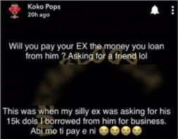 My Ex Wants Me To Pay Back The $15k I Borrowed – BBNaija's Khloe Cries Out Nfj11