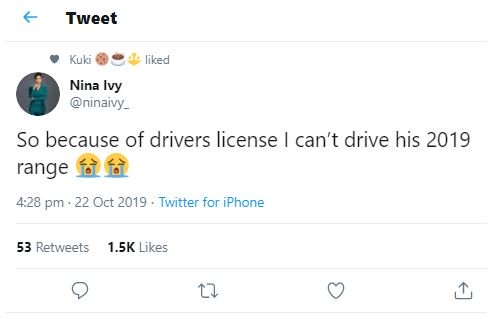 """So Because Of Drivers License, I Cant Drive His 2019 Range Rover?"" – Nina Laments Nina-112"