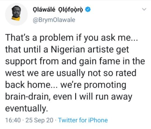 I Will Eventually Run Away From Nigeria – Brymo Cries Out Olawal10