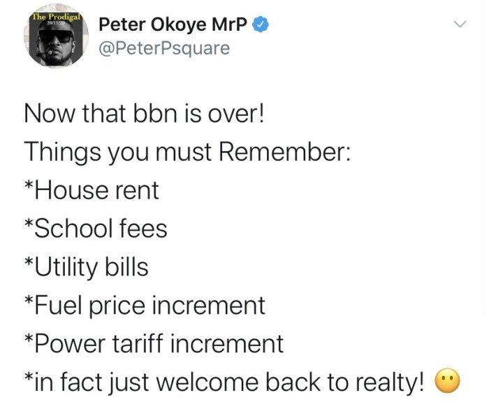 """""""Now That BBNaija Is Over, Hope You All Remember That Buhari Is Still Our President"""" – Peter Okoye Peter-28"""