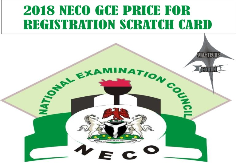 Neco - 2018 Neco Gce Price For Registration Scratch Card  Price10