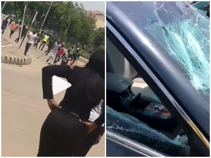 SARS Supporters Attack #ENDSARS Protesters In Abuja (WATCH VIDEO) Pro-da10