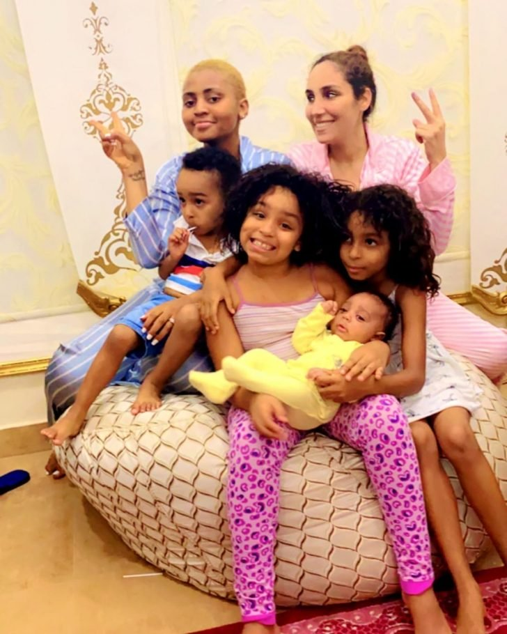 Photo Of Regina Daniels With Her Co-Wife, Laila And Their Kids Regina71