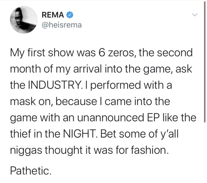 """""""Why I Performed With A Mask On My First Show"""" – Rema Reveals Rema-t10"""