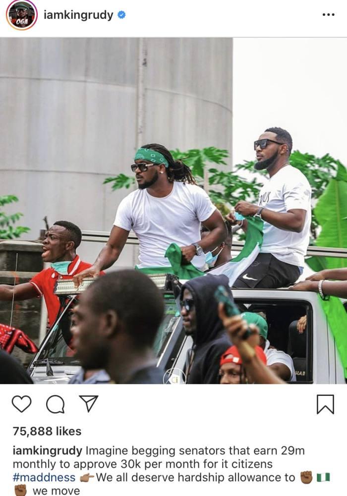"""We All Deserve Hardship Allowance"" – Rudeboy Reacts To Nigerian Senators Being Paid Hardship And Newspaper Allowance Rudebo35"