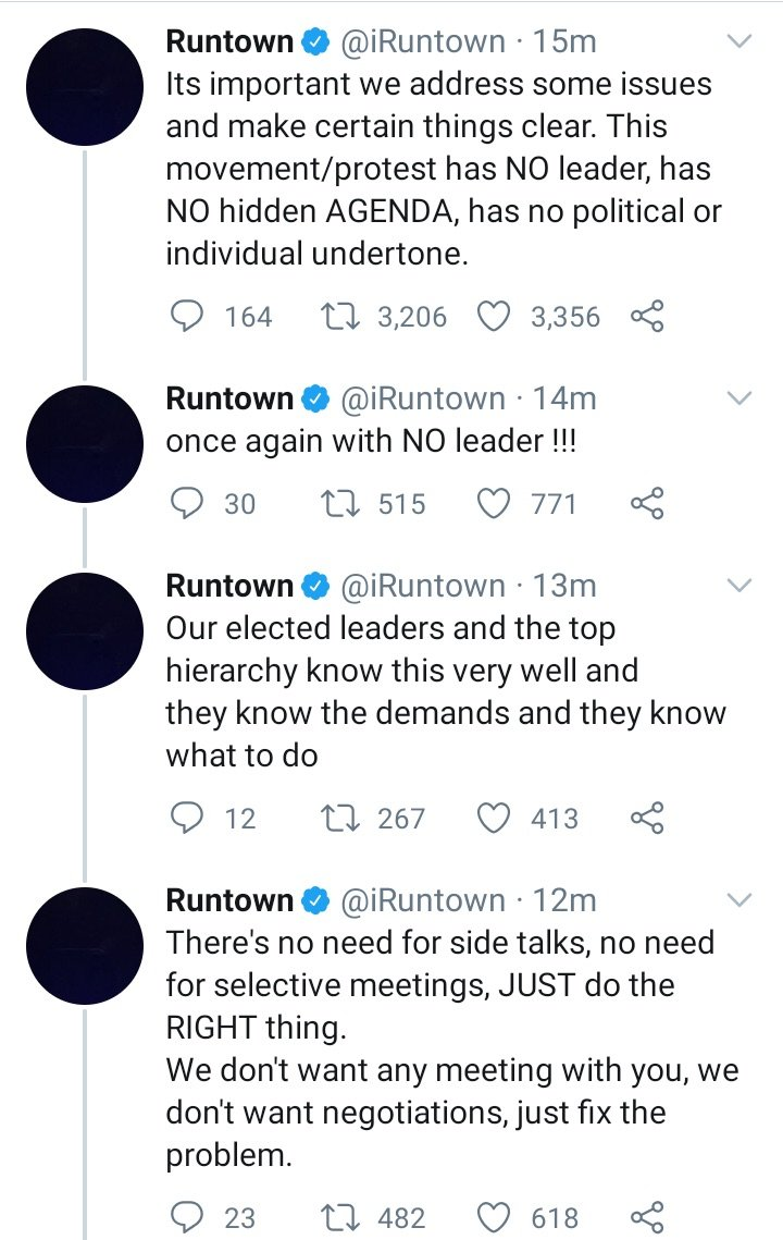 #EndSWAT: This Movement Has No Leader – Runtown Runtow28