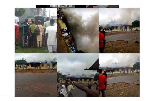 SARS Office Burnt By Angry Youths After Killing Of Student During Sallah (Photos) Sars-110