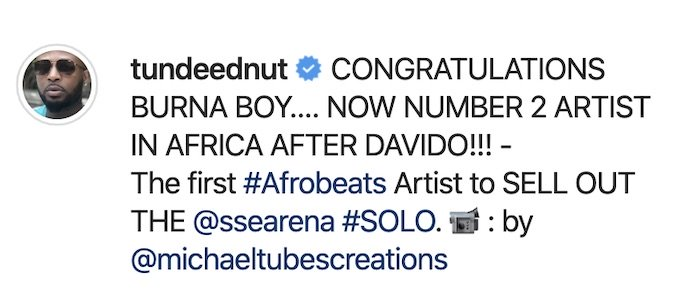 Tunde Ednut Shades Wizkid, Declares Burna Boy The Best African Artiste After Davido Screen47