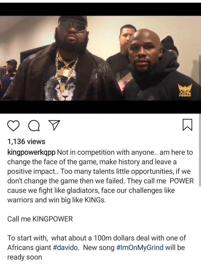 Nigerian Billionaire, King Power Wants To Sign Davido For $100 Million Screen48