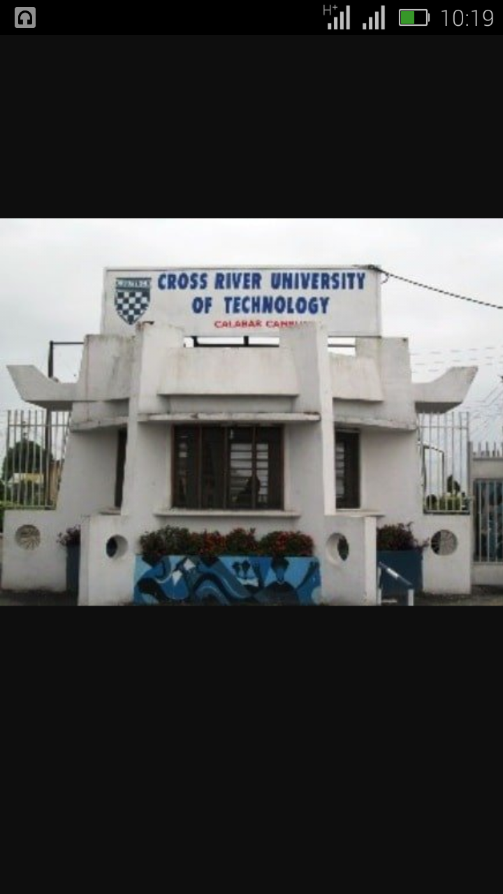 2018/2019 Cross River University of Technology (CRUTECH) Acceptance Fee Payment Deadline  Screen68