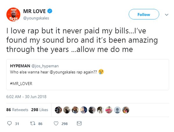"""Skales Replies A Concerned Fan — """"Rap Never Paid My Bills"""" Sk10"""