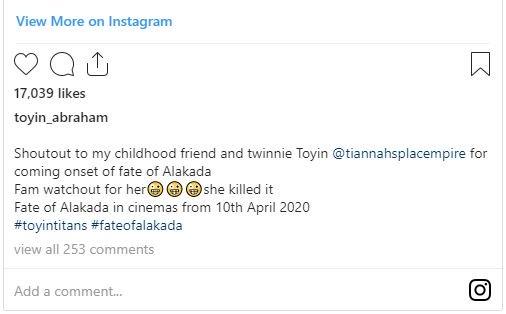"Toyin Lawani Makes Nollywood Debut In Toyin Abraham ""'Fate Of Alakada"" T-211"