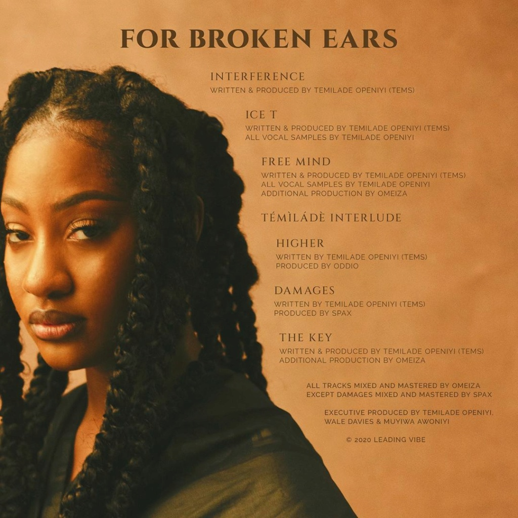 """DOWNLOAD NOW » """"For Broken Ears EP by Tems"""" Full Album Is Out Temsba12"""