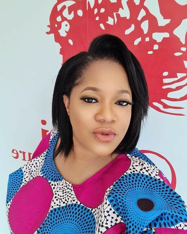 Toyin Abraham joins #EndSars protest in Ibadan after getting dragged by Nigerians Toyin_19