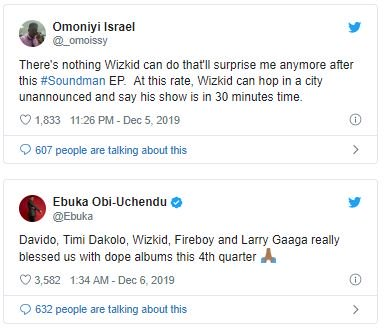 Fans React As Wizkid Drops New Project Without Any Notice (SEE REACTIONS) Tweet-18