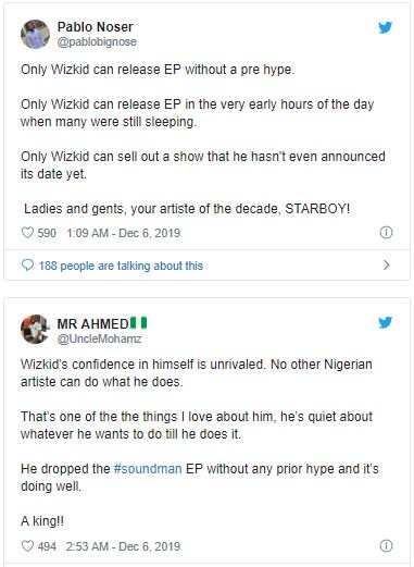 Fans React As Wizkid Drops New Project Without Any Notice (SEE REACTIONS) Tweet-20