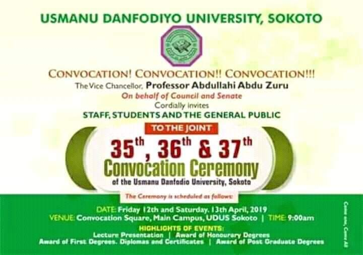 UDUSOK 35th, 36th & 37th Convocation Ceremony Programme of Events Udusok12