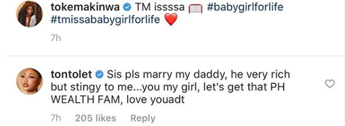"""Marry My Dad So We Can Take His Wealth"" – Tonto Dikeh Tells Toke Makinwa V-710"