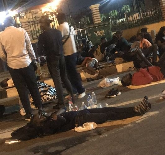 Mr Macaroni And Other Endsars Protesters Sleep Outside Lagos House Of Assembly Vbhd10