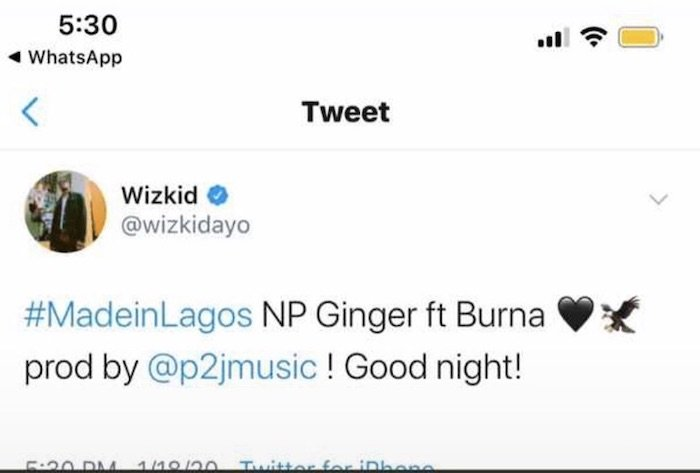 "Wizkid Teams Up With Burna Boy On A Song Titled ""Ginger"" (Coming Soon) Wizki121"