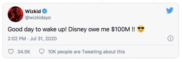 Wizkid Reveals The Amount Disney Is Owing Him – Wizkid Wizki161