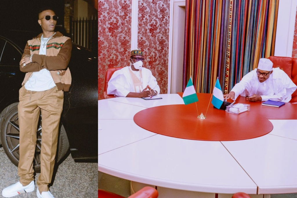 """""""You Think They Had Some Time To Discuss SARS?"""" – Wizkid Reacts To Buhari Meeting With The National Security Adviser Wizki172"""