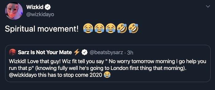 """""""Wizkid Is A Liar"""" – Producer Sarz Reveals On Twitter, Wizkid Responds Wizkid86"""