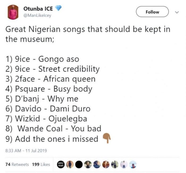 Top Nigerian Songs That Should Be Kept In The Museum – ADD YOURS!! Yu4i9310