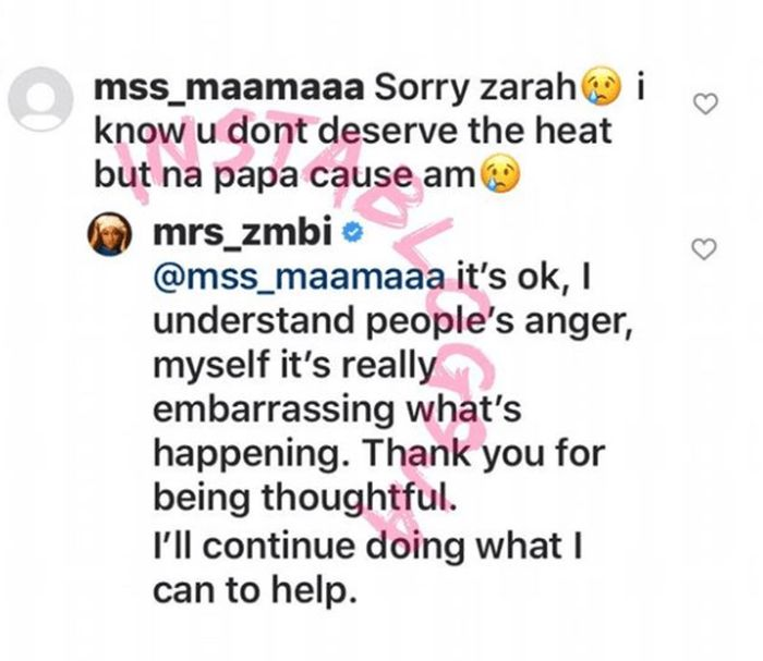 I Understand People's Anger, It's Really Embarrassing What's Happening – Buhari's Daughter, Zahra Reveals Zahra10
