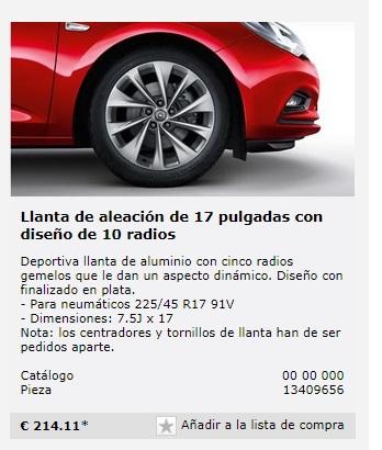 """Vendo llantas 17x7.5"""", 5x105, ET44. Procedentes de Astra K. 350€  Lantas10"""
