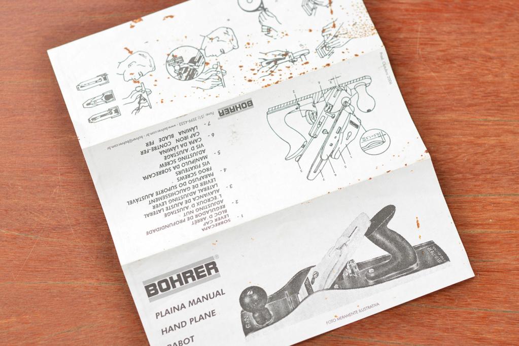Antiga Plaina Manual Bohrer .n 4 _pnk1333