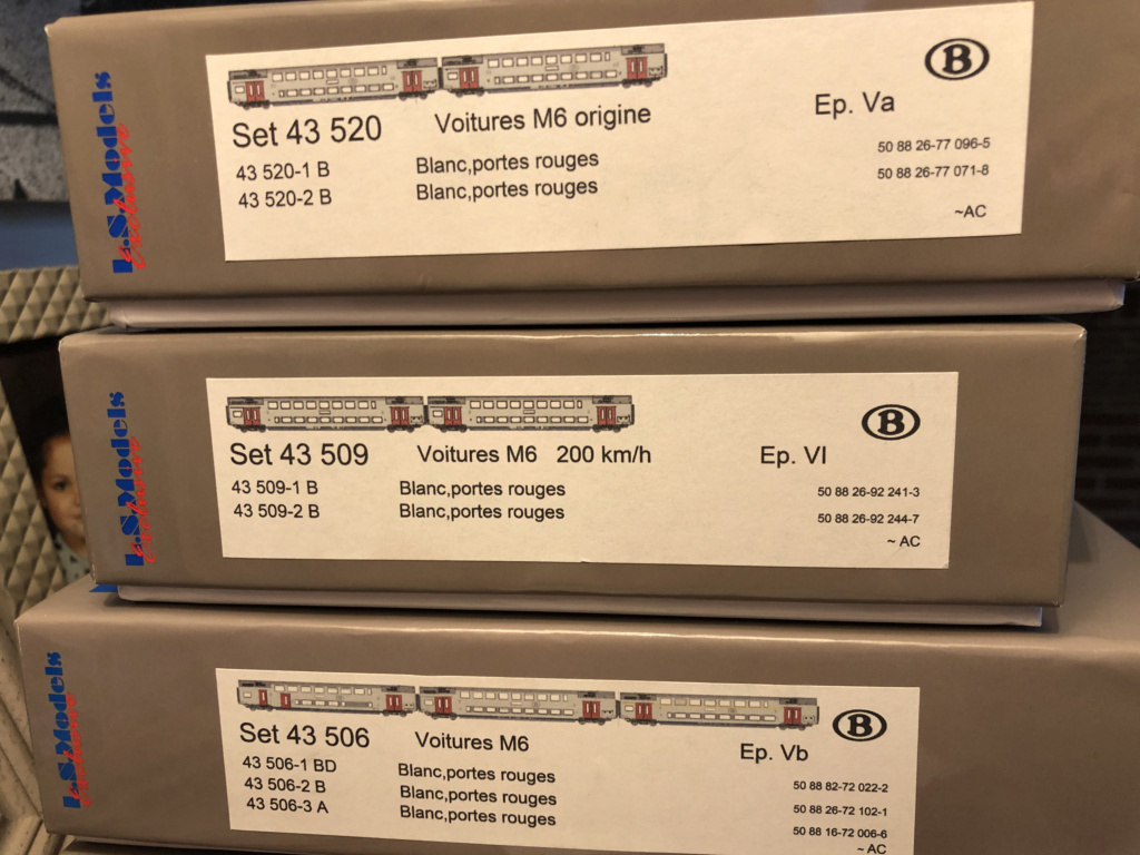 À vendre 3 coffrets neufs LSMODELS M6 SNCB Cc14bd10