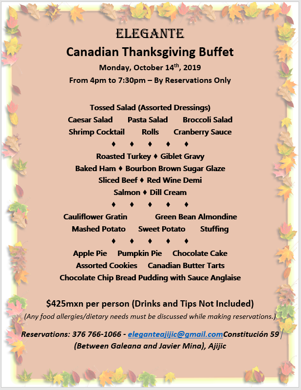 Elegante's Canadian Thanksgiving Buffet Candia11