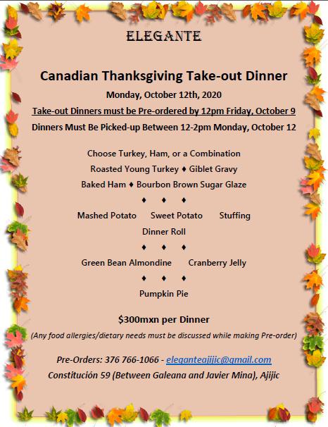 Elegante Canadian Thanksgiving Take-out Dinner Candia12